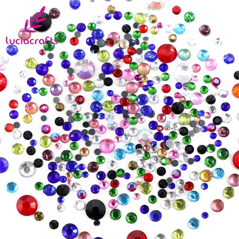 VENDITA! 20 g/lotto (Circa 450 pcs) 2-6mm Colori Misti di Vetro Flatback Strass Hot Fix Pietre FAI DA TE Abbigliamento/Borsa/Scarpe Artigianato G0104