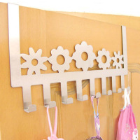 Free Shipping Flowers Stainless Steel Door Multi Purpose Clothing Hook Door After Hanger Wall
