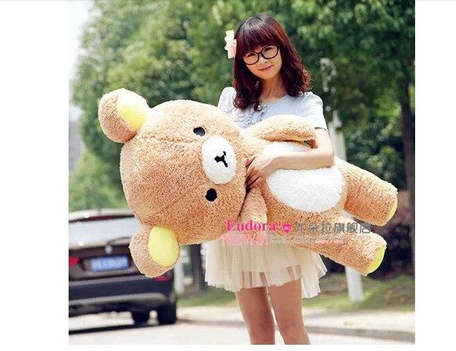 stuffed animal teddy bear plush toy 110 cm Rilakkuma bear doll 43 inch throw pillow toy y781
