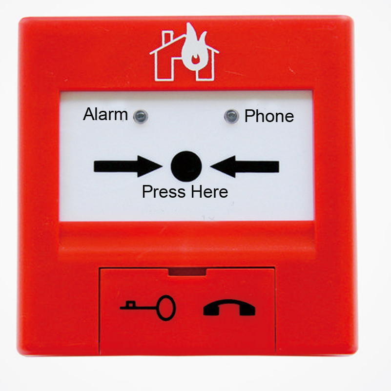 TCSB5204H Manual Call Point  Intelligent manual call point  only work with  TC fire alarm system bask light 55 m 5204
