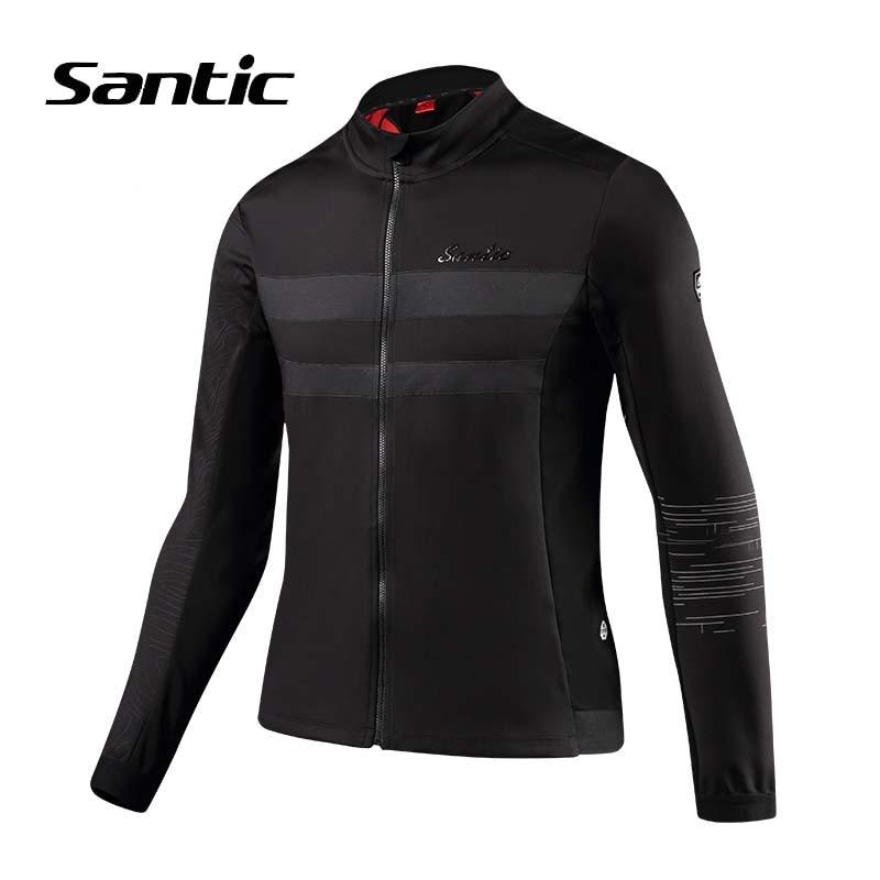 Santic hommes veste de cyclisme hiver à manches longues coupe-vent vêtements veste de vélo thermique chaud vélo Jersey réfléchissant vent manteau