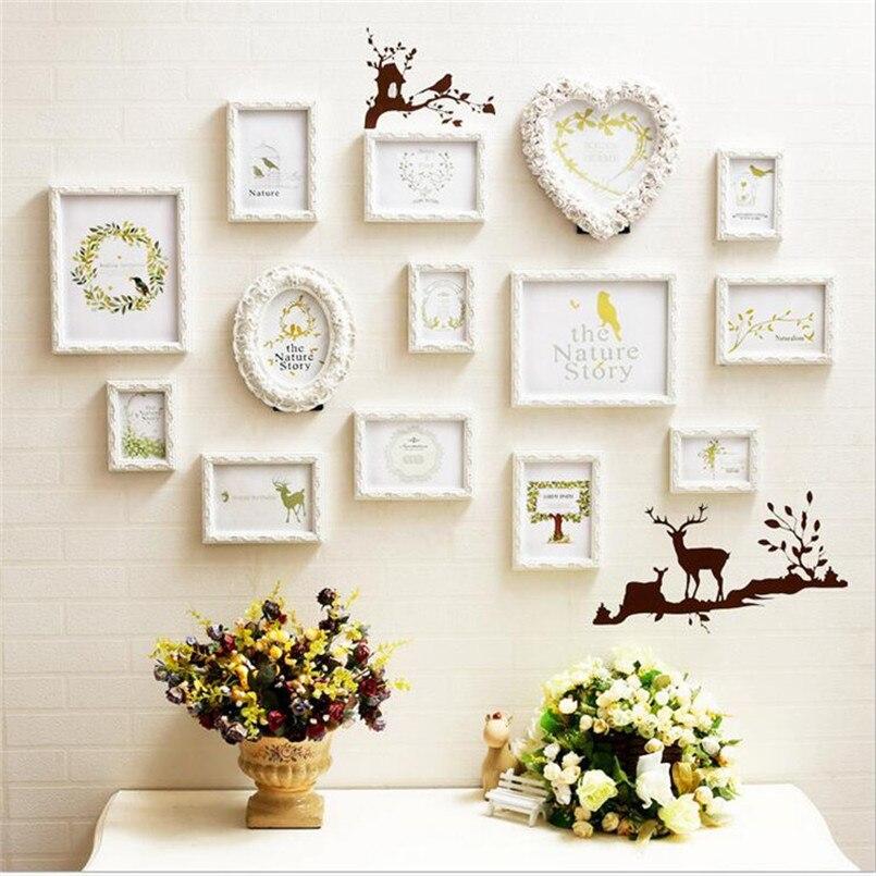 Blanco marco de la vendimia rústico regalo marco de fotos de madera ...