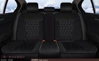 3D Donzela Estilo Tampas de Assento Do Carro Para Porsche Cayenne SUV 911 Cayman Panamera Macan Projeto Curto Pelúcia Todo-Fechado Coxim do carro