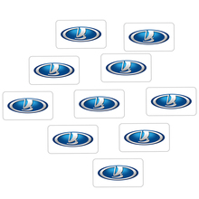 10Pcs Car Decoration Stickers 3D Emblem Badge Decal For Lada Kalina Granta Priora Lada Niva Largus Samara Car-Styling стоимость