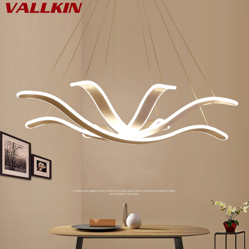 Modern Minimalist LED Pendant Lights Petal-shaped Creative Hanging Bedroom Lamp LED Art Living Dining Room Lamp Fashion Study omnilux настольная лампа omnilux barrabisa oml 62104 01