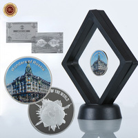 WR Business Souvenir Coin Collectible Singer House Wonders of Russian Challenge Coins with Quality Clear Showing Stand for Gifts