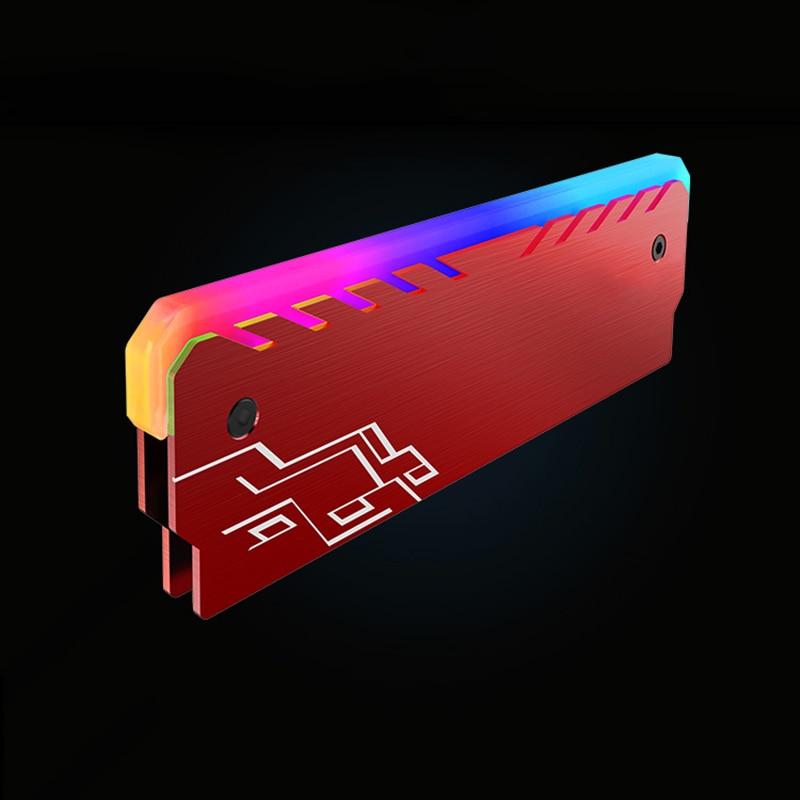 Red RGB RAMs Shell Glowing Vest General Common Light Bar Memory Radiator Desktop DIY Decorations Monochrome LED (Non-Memory)