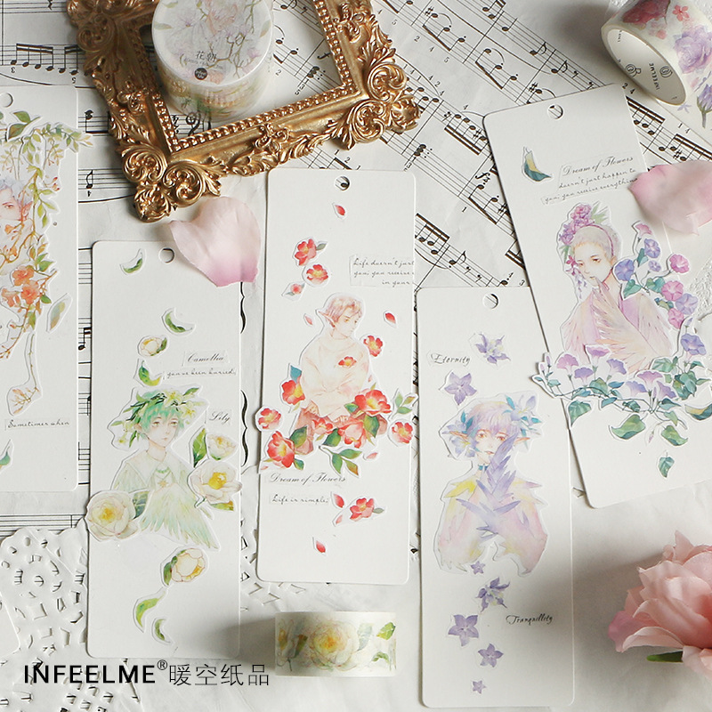 20 Pcs/lot DIY Cartoon Paper Washi Masking Tapes Ancient Flower God Series Decorative Adhesive Tapes Stickers/School Supplies