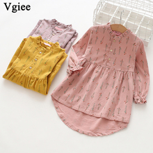 Vgiee Dress for Baby Girls Dresses 2019 Autumn Party Princess Dress Full Patchwork Print for Flowers Girls Clothing CC282