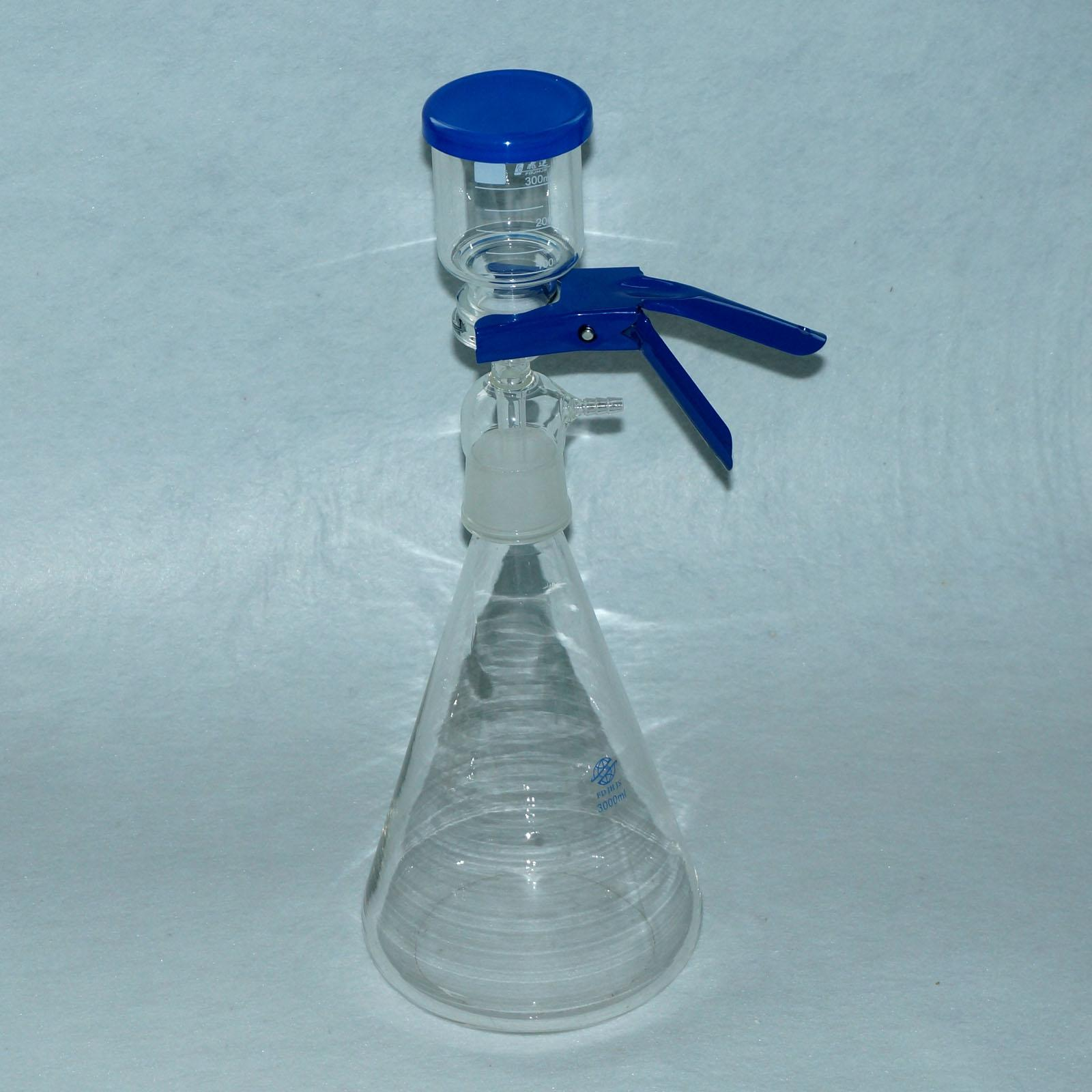 3000ML Membrane Glass Filter Apparatus Set with Funnel and Flask Sand Core Equip