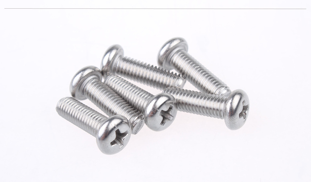 304 stainless steel screw ISO7045 M5x12 screw cross recessed pan head screw round head bolt 1pcs