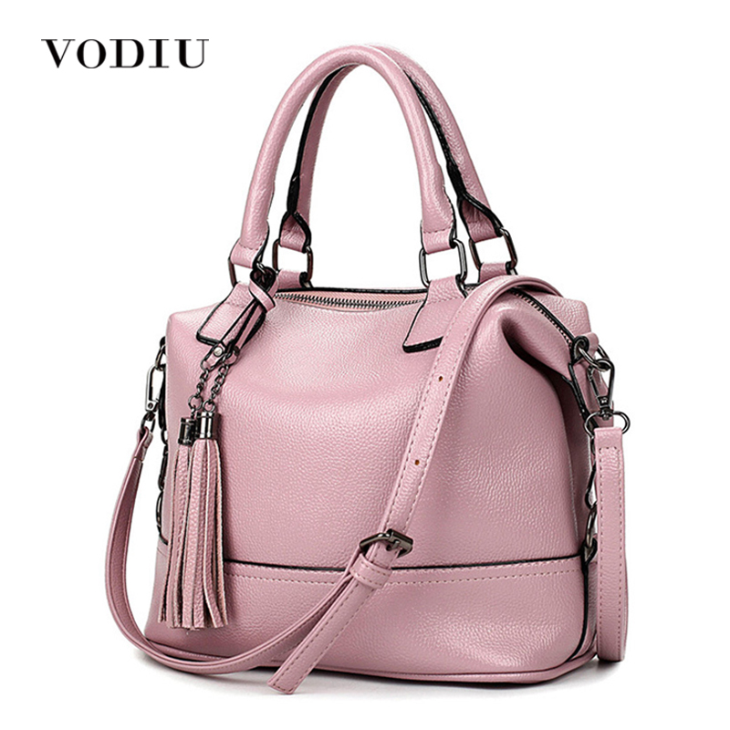 Women Bag Handbag Tote Over Shoulder Crossbody Messenger Genuine Leather Female Fringe Tassel 2017 Candy Color Big Casual Bags