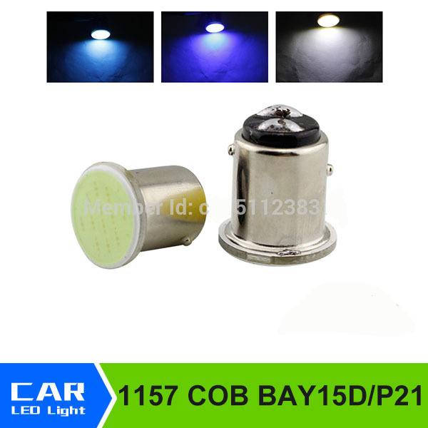 2Pcs/lot COB 1157 LED car brake reversing lights 3W High power 12V