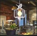 Luz do pássaro do estilo Americano moderno rústico varanda crianças de vidro pingente de luz
