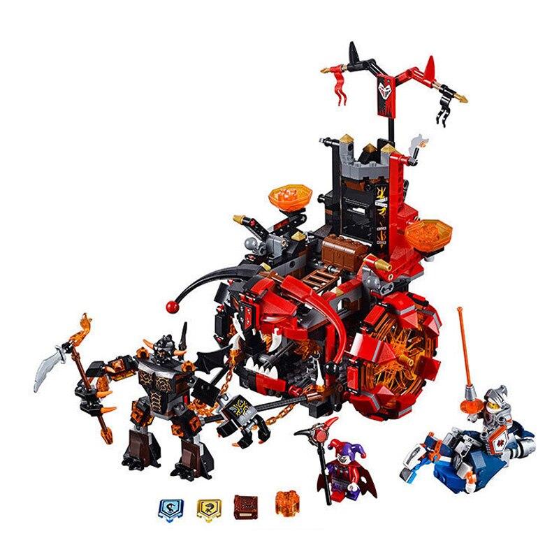 Model 10489 14005 Nexo Knights Jestro Evil Mobile Combination Building Blocks Kits Educational Toys Nexus For Kids Gifts 70316 платье sweewe sweewe sw007ewrqm86
