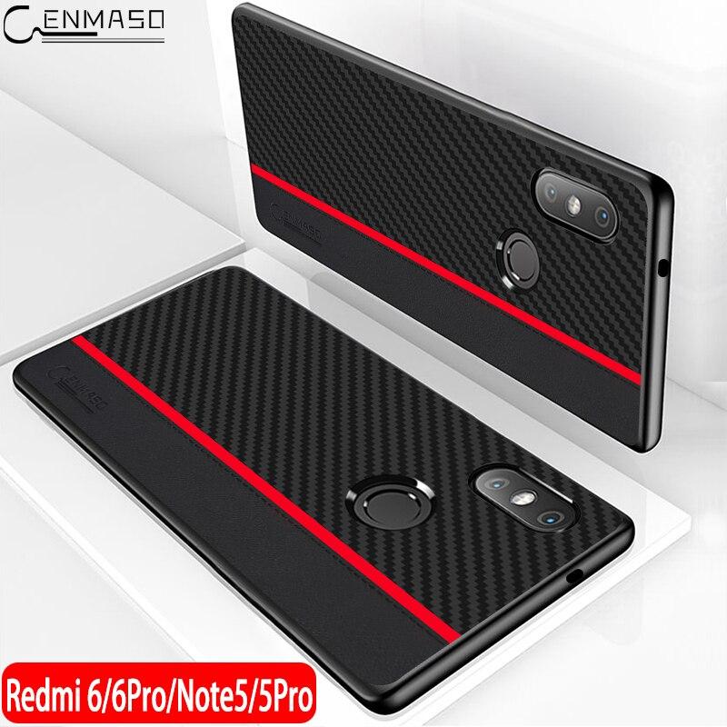 Xiaomi Redmi Note 5 Case Original CENMASO Redmi Note 5 Global Version Back Cover Silicone Edge Fiber Cover Redmi Note 5 Pro Case