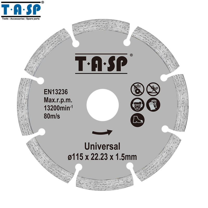 TASP 2pcs 115mm Diamond Cutting Disc 4.5 Angle Grinder Saw Blade for Brick Stone & Concrete - MDCD115GB berrylion diamond saw blade circular saw 114mm cutting disc wet diamond disc for marble concrete stone cutting tools