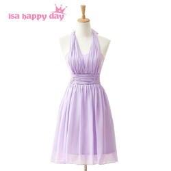Сирень faironly короткие шифоновые невесты горничная вечерние платья до колен 2019 нарядное платье для особых случаев под 100 H3845