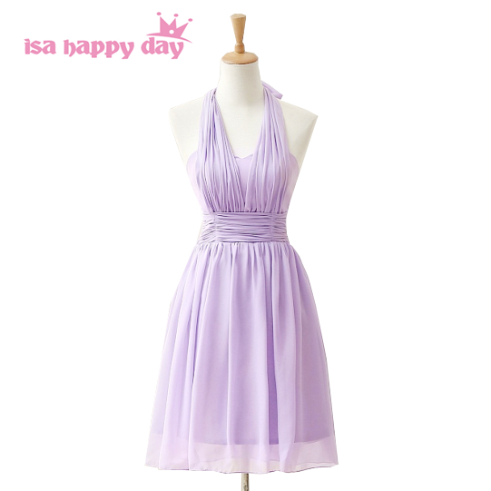 lilac faironly short chiffon brides maid party knee length   dresses   2019   bridesmaid     dress   for special occasions under 100 H3845