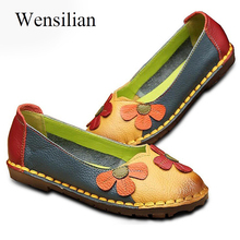 Loafers Genuine Leather Ballet Flats Moccasins Women Shoes Espadrilles Slip On Shoes For Women Ballerina Shoes Zapatos Mujer