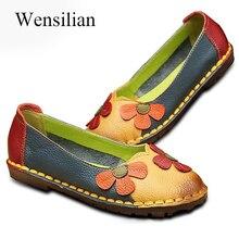 Mocassins en cuir véritable ballerines mocassins femmes chaussures Espadrilles sans lacet chaussures pour femmes ballerine chaussures Zapatos Mujer