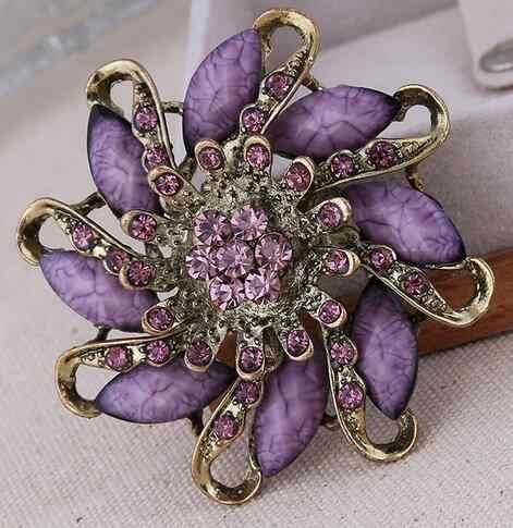 Vintage spilla fiore gioielli per le donne/uomini di modo gioielli pin spilla Sciarpa del metallo regalo di Nozze accessori Gioielli fai da te