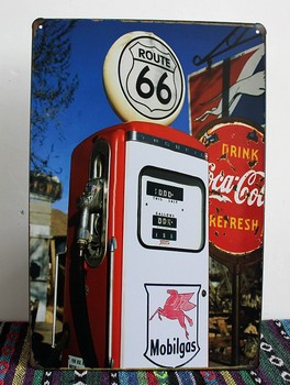 Series of Route 66 Tin Sign