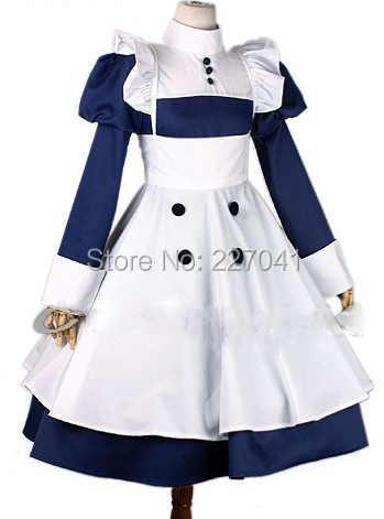0f16e305f1 Black Butler Kuroshitsuji Mey-rin Cosplay Costume Halloween Custom Made  Free Shipping
