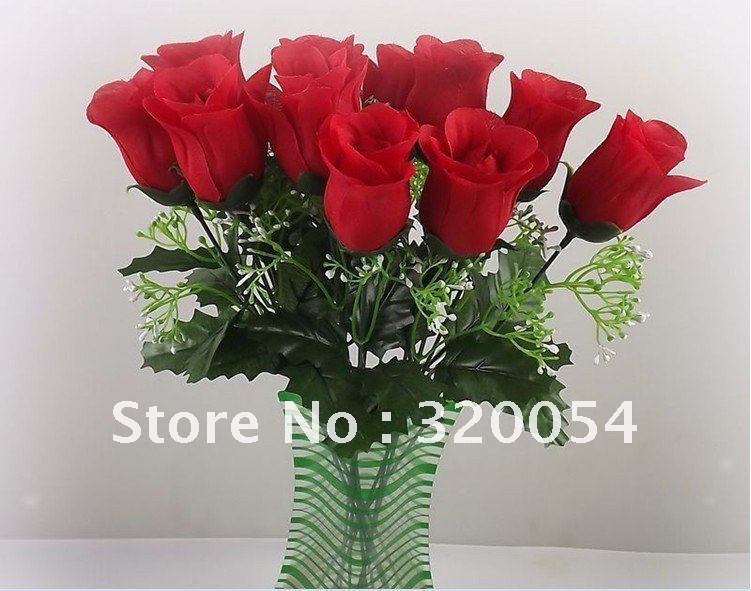 Free Shipping Pu Artificial Flower Rose Real Touch Real