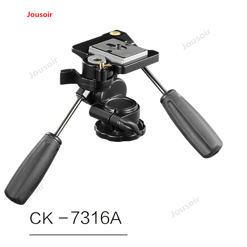 CK7316A 3D panoramic tripod PTZ SLR camera balance handheld photography accessories CD05 T03(China)
