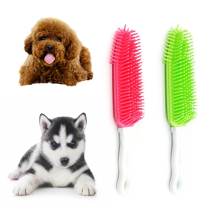 Pet Dog Puppy Cat Bristles Bath Brush Comb Depilation Soft Silicone Sticky Hair Tool Small Animal Massage Tool