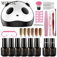 MIZHSE Shiny Nail Polishes with Nail Accessories Gel Nail Polish Glitter Polygel Kit Manicure Kit Gel Varnish Set For Stamping