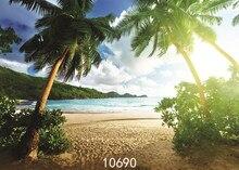 רקע צילום תינוק חג חוף דקל עץ מודפס תמונה תפאורות ויניל בד עבור תמונה סטודיו פונדו פוטוגרפיה