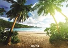 Fotograficzne tła dziecko wakacje plaża dłoń drzewa drukowane zdjęcie teł winylu tkaniny dla Photo Studio Fundo Fotografia