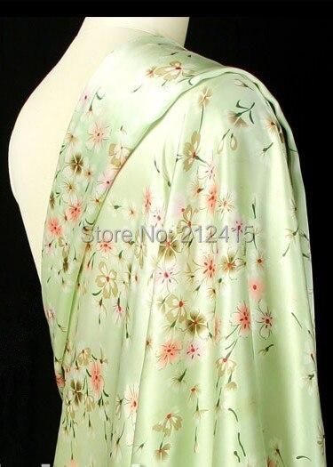 Livraison gratuite 100% mûrier soie tissu nature pure charmuse soie imprimé tissu pour robe literie scraf deux couleurs # LS0785