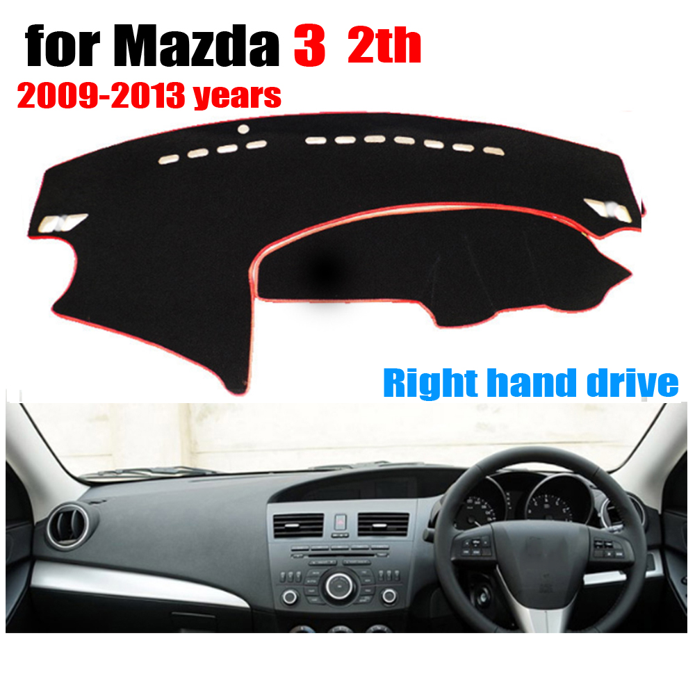 Car dashboard cover mat for Mazda 3 2th 2009-2013 years Right hand drive dashmat pad dash mat covers auto dashboard <font><b>accessories</b></font>
