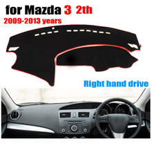 Car dashboard cover mat for Mazda 3 2th 2009-2013 years Right hand drive dashmat pad dash mat covers auto dashboard accessories