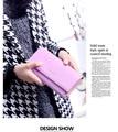 Lady purse, simple little clean and fresh love rivet Long Wallet
