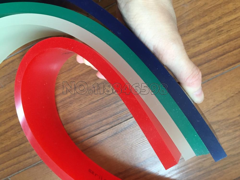 65A//75A/85A Durometer Screen Printing Squeegee 50mm*9mm*500mm Adhensive Tape Printing Squeegee Rubber Strip it8712f a hxs