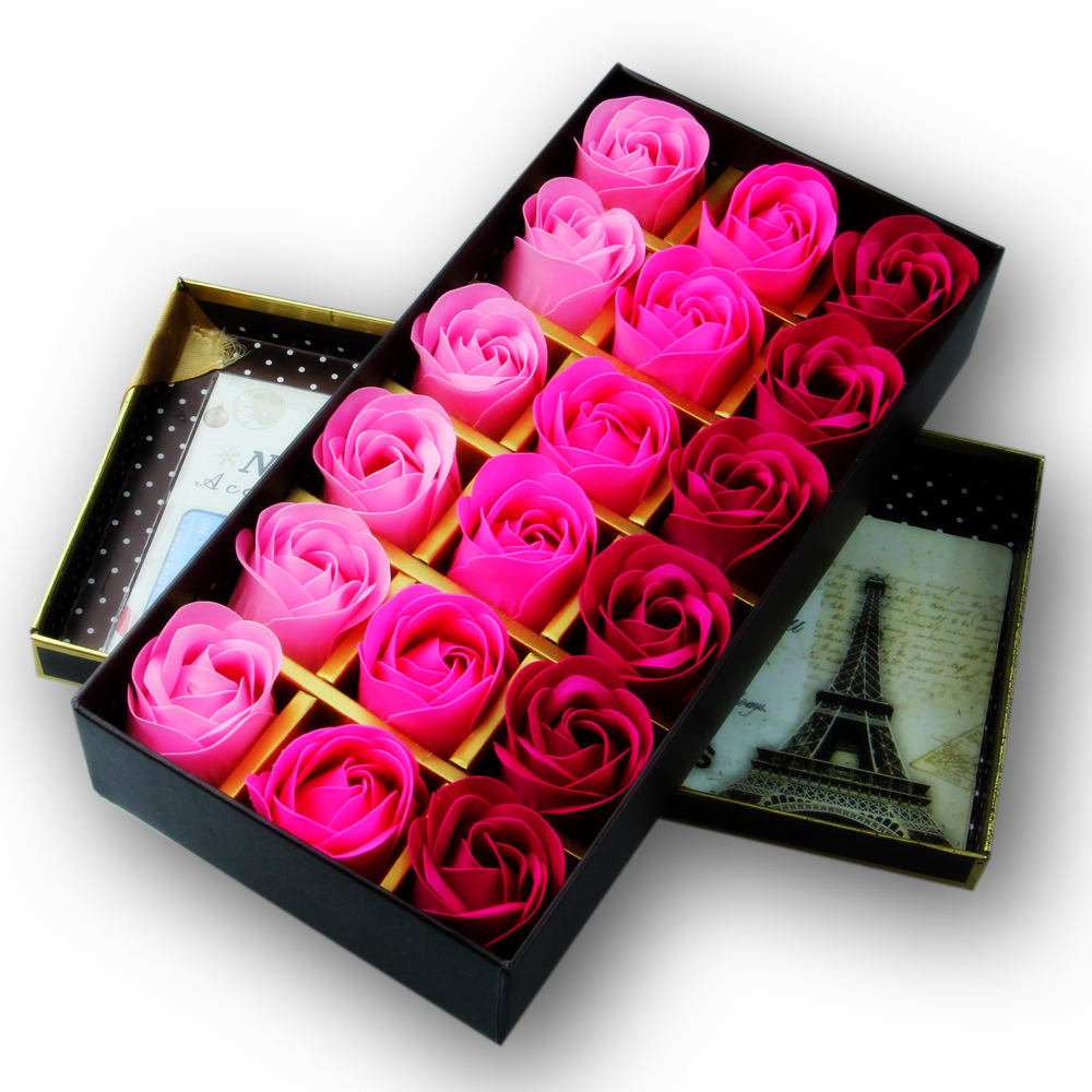 Thai Wedding Gifts: Scented Bath Soap Rose Soap Flower Petal With Gift Box For