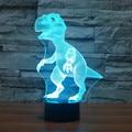 3D ilusão Visual LED Decoração Da Lâmpada Atmosfera lâmpada 7 Mudando A Cor do Dinossauro Para Casa Decoração De Mesa para o Presente da Criança