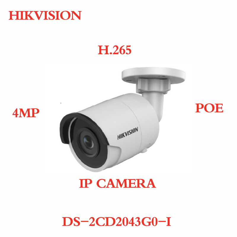 ANXIE Hikvision 4MP DS-2CD2043G0-I IR 30M Fixed Bullet Network Camera POE H.265 Waterproof Security Surveillance IP Cameras