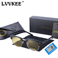Lvvkee marca polarizadas gafas de visión nocturna gafas de sol del club hombres mujeres al aire libre semi sin rebordes gafas de sol oculo de sol maestro