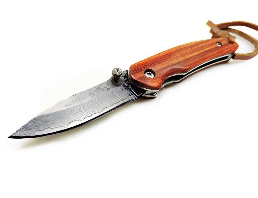 سكاكين BGT للصيد قابلة للطي سكين تخييم EDC يدوي الصنع سكاكين الجيب أدوات قتالية تكتيكية 8CR18MOV/9CR18 مقبض خشبي دمشق