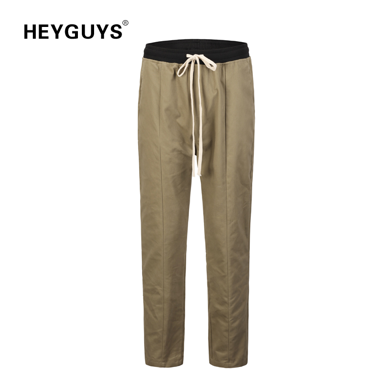 HEYGUYS Pant Men Overalls Trousers Fitted Street-Wear Fashion New Hip-Hop FOG Casual