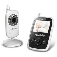 2.4 Inch Hello Baby Wireless Video Baby Monitor with Night Vision & 2 Ways Talking, Rechargeable Battery,Temperature Monitoring