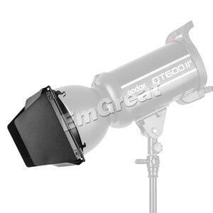Image 5 - Godox BD 04 Bowens zamontuj drzwi do stodoły + siatka o strukturze plastra miodu + 4 filtr kolorów do standardowy reflektor do Godox QT600IIM/QT400IIM