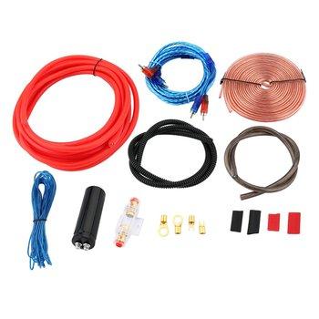 NewestProfessional 2300 W 4 מד Amp ערכת מגבר להתקין חיווט & 2.5 פרד דיגיטלי קבלים התקנה חיווט חוט