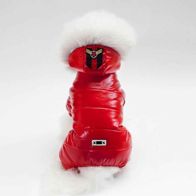 Зимняя одежда для собак теплая плюшевая куртка для домашних животных четырехконечные комбинезоны одежда для маленьких собак Одежда для собак наряд Ropa Perro