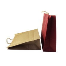 20pcs/lot Multifuntion Solid Color 44*40*14cm Kraft Paper Bags With Handle Gift Wedding Birthday Party Holiday Package Bag